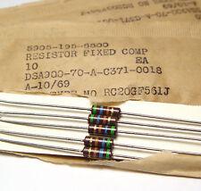 60x Vintage Kohleschicht- Widerstand 560 Ohm, 0.5 W, Tube Amp, etc.