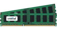 Crucial 8gb Kit 2x 4gb Ddr3 1600 Mhz Pc3-12800 Desktop Memory Ram Udimm