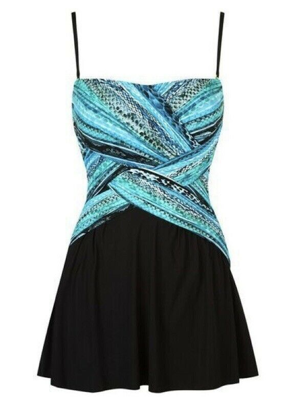 Gottex Snake Charmer Contour Slimming Swimsuit Dress one piece size 14 UK BNWT