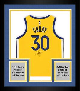 Frmd Stephen Curry GS Warriors Signed Gold 2019-20 The Bay Swingman Jersey