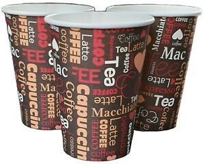 100-X-12oz-Disposable-Coffee-Cups-Paper-Cups-For-Hot-And-Cold-Drinks-Printed