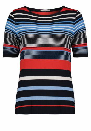 Betty Barclay Damen Tshirt Ringelshirt Streifen blau rot