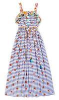 Matilda Jane Endless Summer Maxi Dress 12 Girls Blue Stripe Adventure Begins