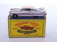 Matchbox Lesney No.27c Cadillac Sixty Special B5 MOKO Box (RARE BPW, BLACK BASE)