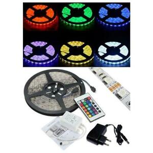 LED strip SMD 5050 RGB ip65 5 metre coil with Power Supply and Remote