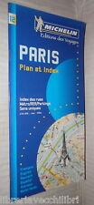PARIS Plan et index des rues Metro RER Parkings Sens unique Guida Michelin 12