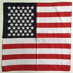 Cotton-American-Flag-Bandana-Headwear-Hair-Band-Scarf-Handkerchief-Neckwear