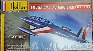 Fouga-Magister-CM170-Patrouille-de-France-Heller-Kit-1-72-80220-Nuovo