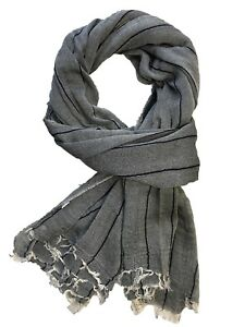 New Women Plain Scarves Large Ladies Mesh Pannel Neckerchief Wool Wrap Warm