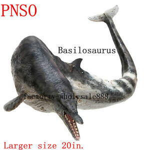 20'' PNSO Basilosaurus Dinosaurs Model scientific art prehistoric whale Figure