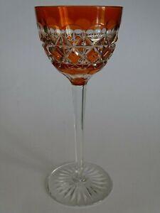 Importé De L'éTranger Ancien Verre A Vin Roemer Cristal Val St Lambert Modele Carlton Orange Ht 19 Cm Ventes De L'Assurance Qualité