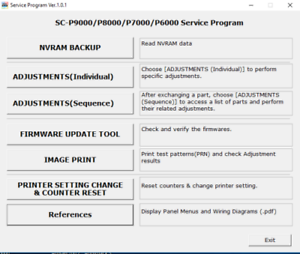 Details about Service Program for Epson SureColor P6000, P7000, P8000, P9000