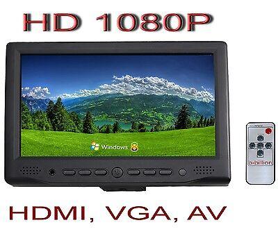 "7"" Reverse Display HDMI 1080p RCA AV VGA POS Touch Screen TFT LED LCD Monitor CA"