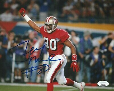 San Francisco 49ers Jerry Rice Signed 8x10 Photo Jsa Authenticated Ebay