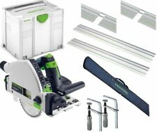 Festool Saw TS 55 REBQ Kit 2xGuides Connectors Clamps Bag Systainer Blade 110V