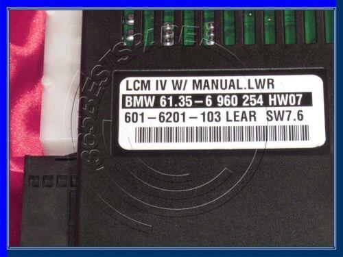 BMW E39 E38 E53 E52 5 7 Z8/'s LCM4 Módulo de Control de Verificación de Luz con Manual LCM IV LWR