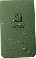 Rite In The Rain Top Bound Memo Notebook 50 Sheets Perforated Green Paper