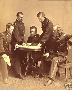 1865-Civil-War-Generals-meeting-George-A-Custer-Philip-Sheridan-George-Crook