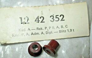 RARITAT-2-neue-Abstandbuchsen-Signalring-Opel-Rekord-Admiral-Blitz-Kadett
