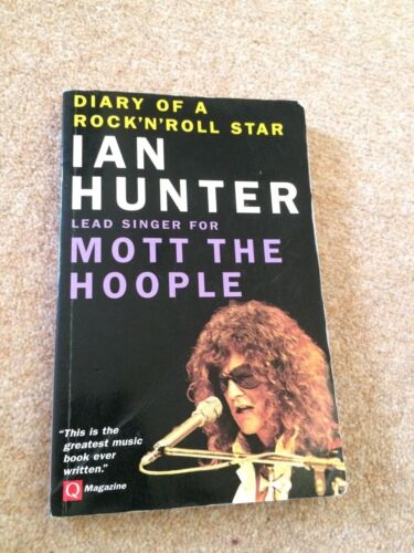 1 of 1 - Ian Hunter DIARY OF A ROCK 'N' ROLL STAR paperback 1996 VG+ w/photos     Diary o