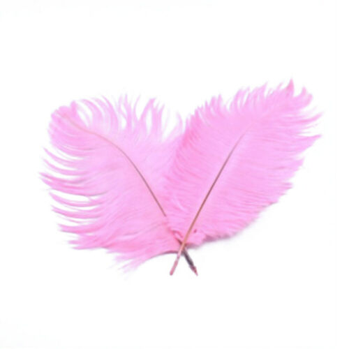 Fluffy Ostrich Feathers Plume Craft Hat Costume Wedding Party Decoration 25-60cm