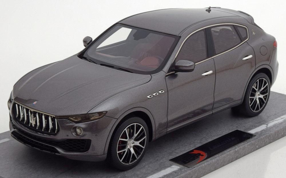 BBR 2016 Maserati Levante Grey Metallic 1 18 Scale LE of 199 New  BBRC1809C New