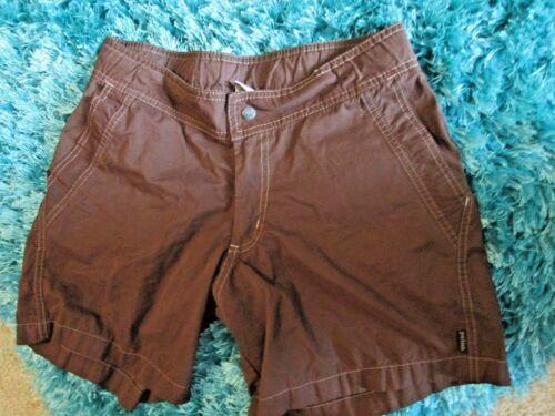 Femmes Taille M Marron Prana Randonnée Shorts * Excellent * Nylon mélangé
