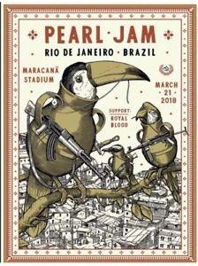 NEW-2018-PEARL-JAM-Ravi-Zupa-Concert-Edition-Poster-Rio-de-Janeiro-3-21-Print