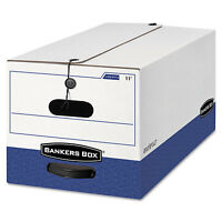 Bankers Box Liberty Heavy-duty Strength Storage Box Letter 12 X 24 X 10 White on Sale