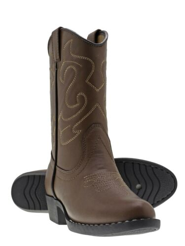 Brown, Pink Canyon Trails Kids Boys//Girls Cowboy Classic Western Rodeo Boots