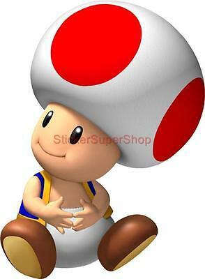 Choose Size - SITTING TOAD Super Mario Bros Decal Removable WALL STICKER Decor