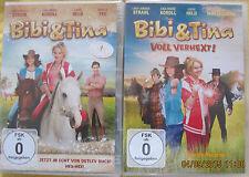 BIBI UND TINA 1 + 2 - Der Kinofilm + Voll Verhext -- 2 DVD  NEU