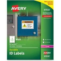 Avery Durable Id Labels - Permanent Adhesive - 5 Width X 3.50 Length - 4 / on sale