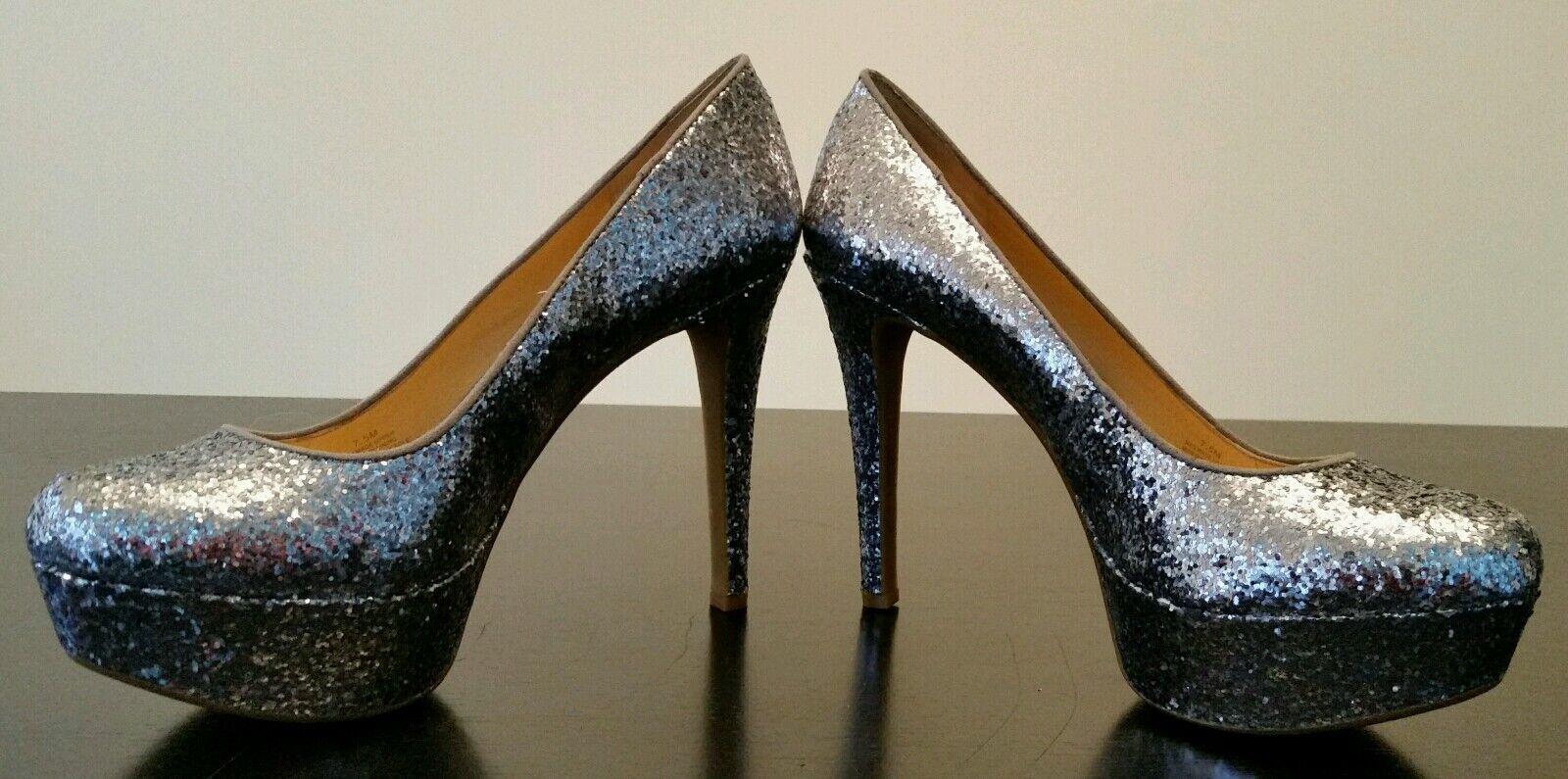 Gianni Bini Jessa heels, silver glitter, Größe 7.5- BEAUTIFUL