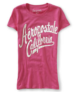 Aeropostale-Graphic-Women-039-s-California-Medium-T-Shirt-Pink-25-off-next-order