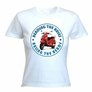 BENDING-THE-RULES-RULING-THE-BENDS-T-SHIRT-Scooter-Mod-Mods-Colour-Choice