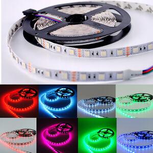 5-20M-300LEDs-SMD5050-Bande-Ruban-Flexible-Strip-Lumieres-decor-lampe-DC12V-RGB