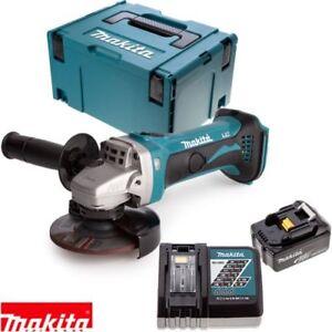 Makita-DGA452Z-18v-115mm-Smerigliatrice-Angolare-1-x-3Ah-Batteria-Caricatore-custodia-amp-Inlay