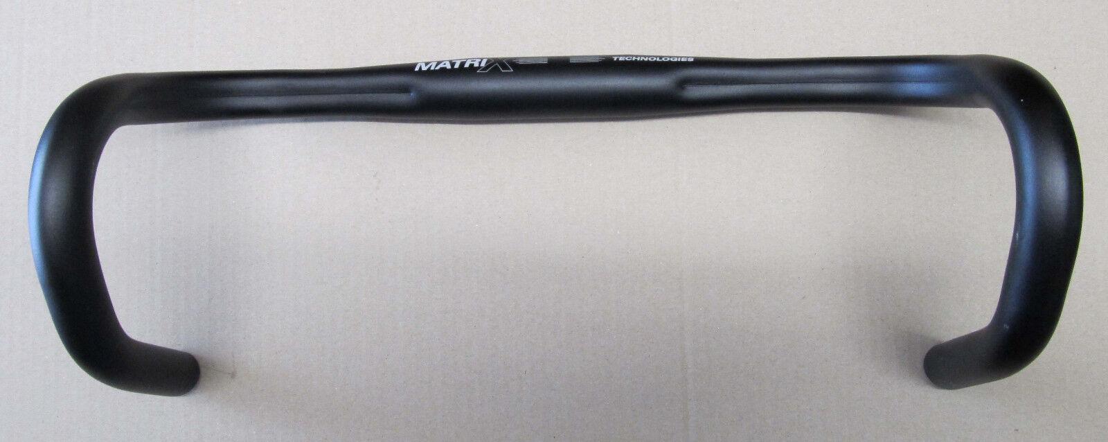 Matrix Kalloy AL049L Alu Rennrad Lenker 40cm black 31,8mm 400gramm NEU