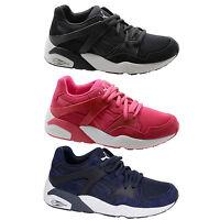 Puma Trinomic Blaze Jr Kids Trainers Juniors Shoes Navy Blue Pink 359930