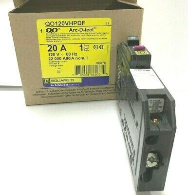 SQUARE D Q0120 20 AMP PLUG IN NEW IN BOX LOT OF 10