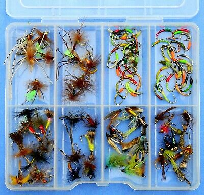 50 or 100 x Mixed Glow In The Dark Buzzers Lummies Trout Flies for Fly Fishing 25 10