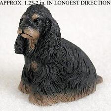Cocker Spaniel Mini Resin Dog Figurine Statue Hand Painted Black/Brown