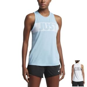 Details about Nike Women's Just Do It Legend Tomboy Training Tank Top S M L XL Blue Gym New