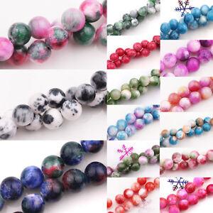 Natural Jade Stone Gemstone Round Spacer Loose Beads DIY 10mm