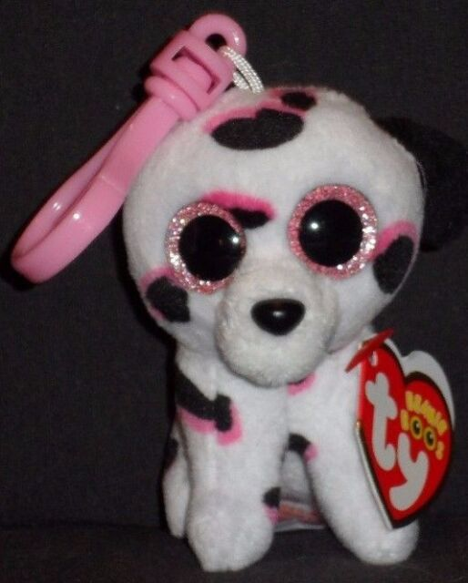 Ty Beanie Boos Georgia The Dalmatian Dog Key Clip 3