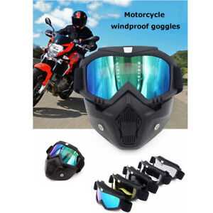 0e1ece21c6c Image is loading For-Harley-Vintage-Motorcycle-Helmet-Goggles-Full-Fack-
