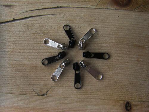 Zip Slider No5 Plastic Spiral Zip Non Lock  Repair Zip Sliders Slider Pull Zip