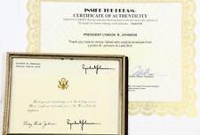 President Lyndon B. Johnson & Lady Bird Johnson Personal Thank You Not... Lot 89