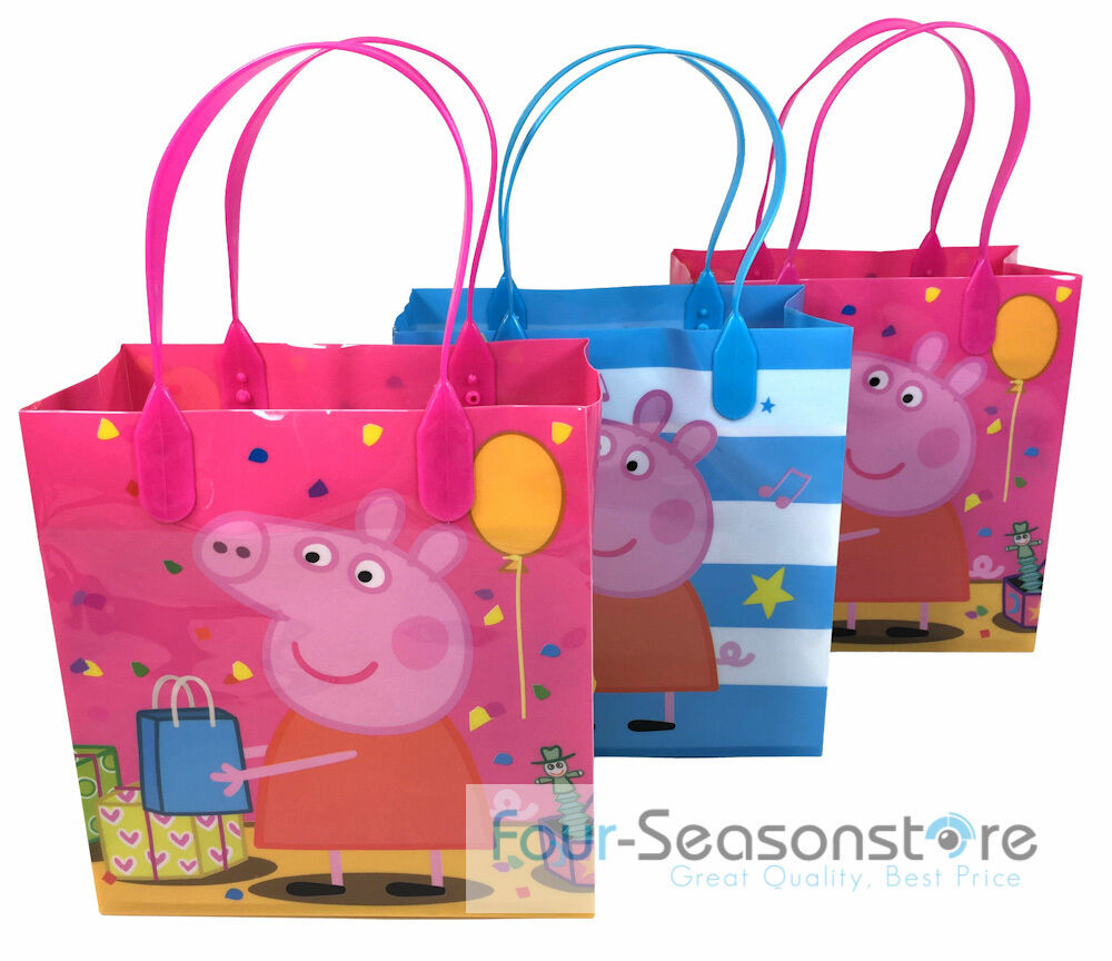 New! 24pc Peppa Pig Goodies Bag Favor Birthday Party Loot